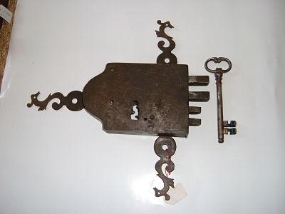 Serrure de porte de maison XVIIIè Image